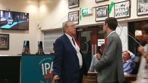 Sir Alan Meale awaiting the results